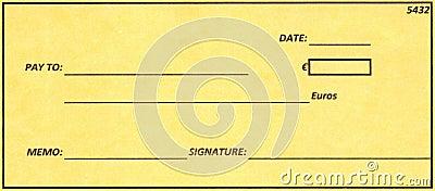 Euro Cheque.