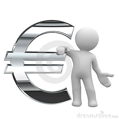 Free Euro Chrome Symbol Stock Photography - 3440362