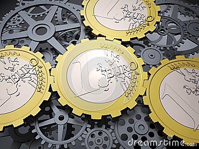 Euro coin gears