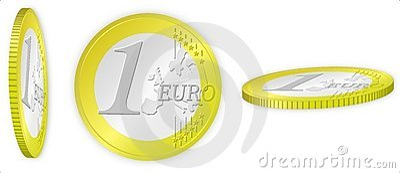 Euro coin ilustration