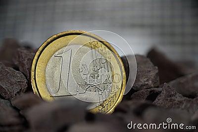 Euro coin metal