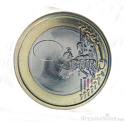 Euro Coin with Talk Bubble