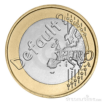 Euro coin with word