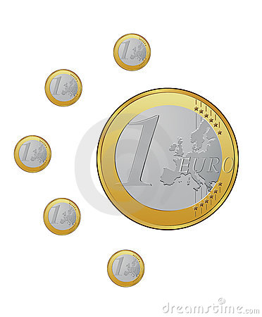 Euro coins in vector