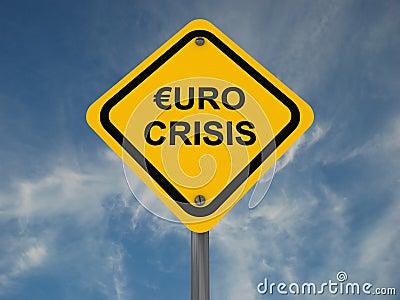 Euro crisis sign