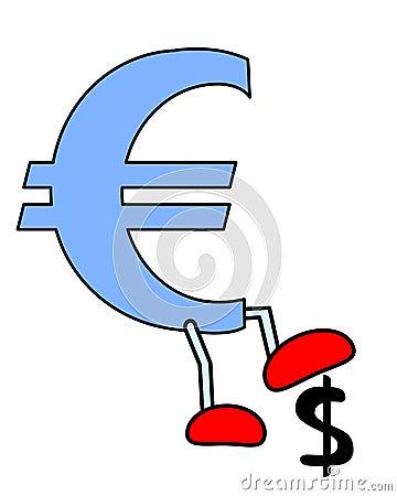 Euro crush Dollar