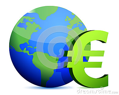 Euro currency around the globe