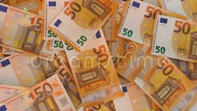 Euro currency banknotes fallen and fly. Cash money background, earning, salary, deposit or credit concept stock video footage