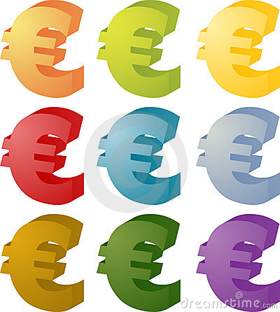 Euro currency symbol set