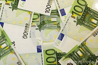 Euro da nota de banco 100
