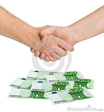 euro de poign e de main et d 39 argent photo stock image 33982490. Black Bedroom Furniture Sets. Home Design Ideas