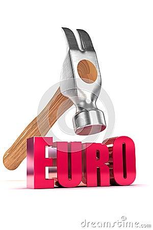 Euro Debt Concept