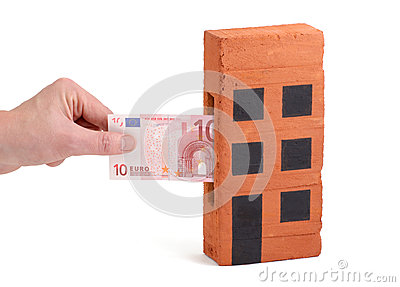 Euro deposit into a brick-house