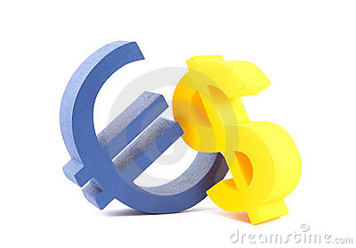 Euro with dollar currency symbols