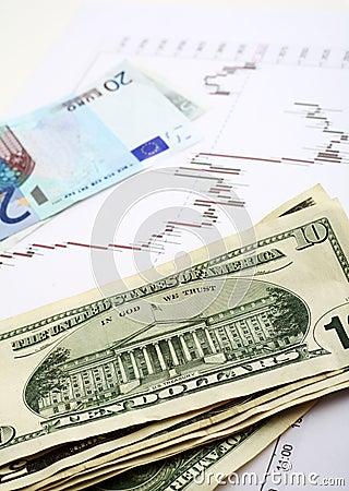 Euro dollar exchange vertical