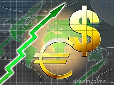 Euro and dollar increasing value