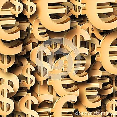 Euro dollar symbol patten