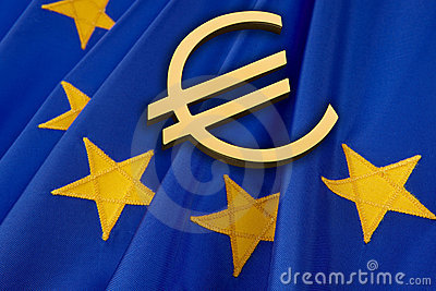 Euro and EU flag