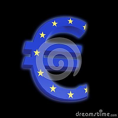 Euro with EU Flag
