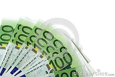 Euro för 100 sedel