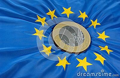 Euro on flag