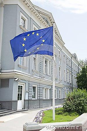 A Euro flag