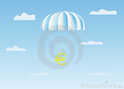 The euro flies on a parachute