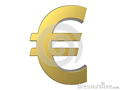 Euro Golden Symbol