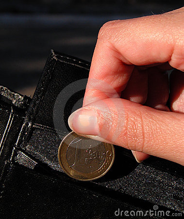 Euro,hand and wallet