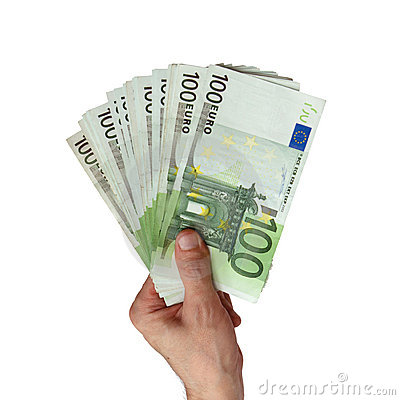 Free Euro In A Hand Of The Man Stock Photos - 9311673