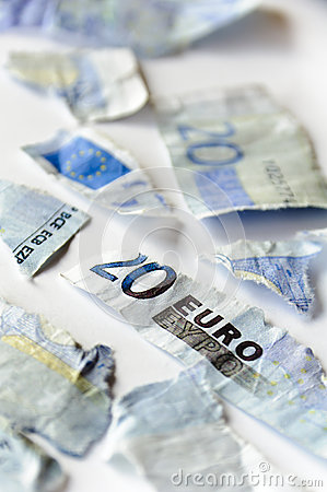 Free Euro In Pieces Stock Image - 24941951