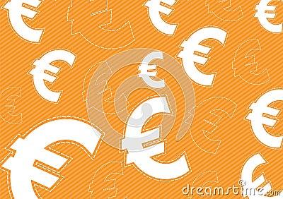 Euro money background design