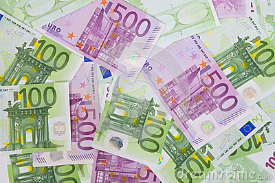 Euro money banknotes, background