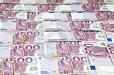 Euro money cash curreny bills as background