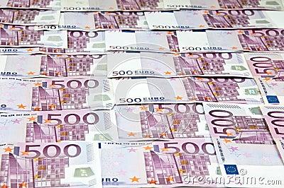 Euro money cash curreny bills as background