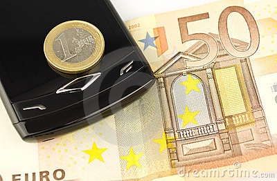 Euro money coin and banknote