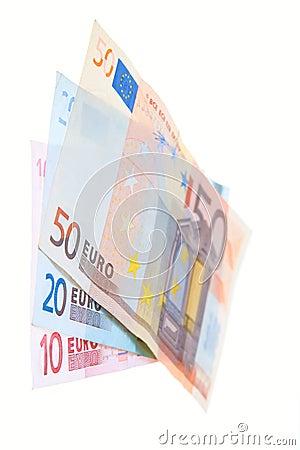 Euro money isolated on white