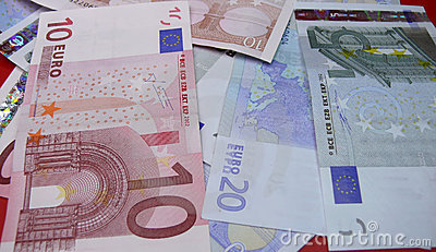 Euro money notes