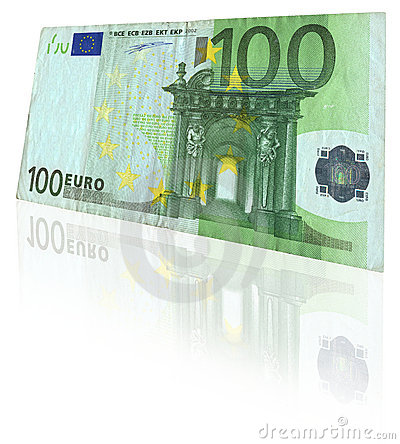 Free Euro Note With Reflection Royalty Free Stock Image - 2239836