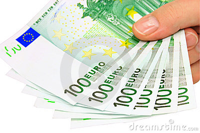 Euro notes (clipping path)