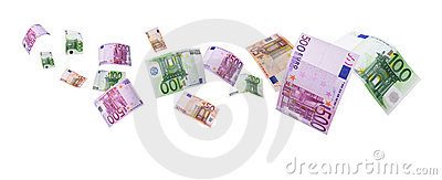 Euro notes -clipping path