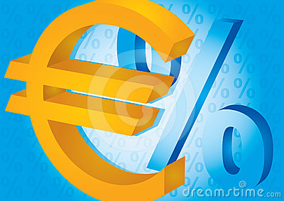 Euro and percent sign