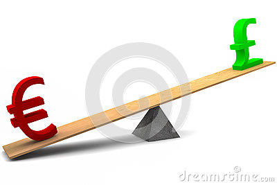 Euro and Pound Seesaw