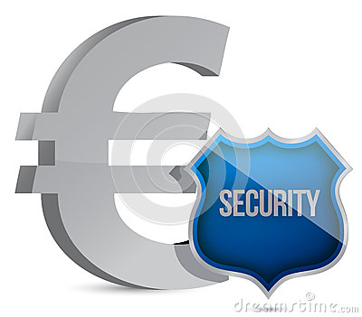 Euro protected concept illustration design