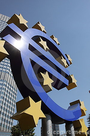 Euro sign Editorial Stock Image
