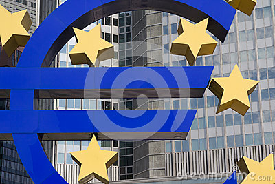 Euro Sign Editorial Photography