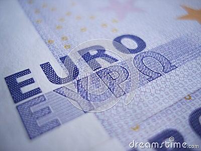 Euro Sign Closeup