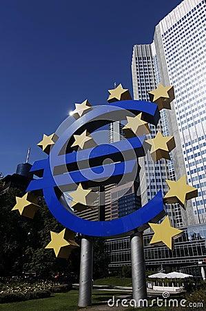 Euro Sign At EZB