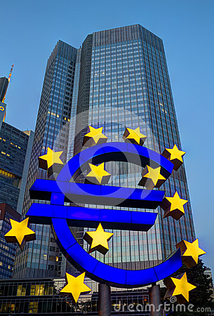Euro Sign in Frankfurt Editorial Photography