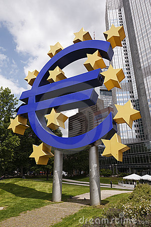 Euro Sign - Frankfurt, Germany Editorial Image